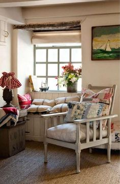 England cottage with vintage decorating