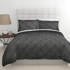 East End Living Pintuck Diamonds Duvet Cover and Sheet Bedding Set cover with duvet cover, flat & fitted sheets, pillow cases - $50.00