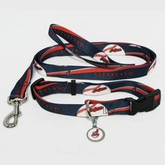 Hunter Cleveland Indians cat Collar (Lead and ID Tag Combo Set) *** To view further, visit now : Cat Collar, Harness and Leash