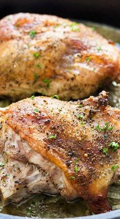 Roast Turkey Thighs for Two is one of my favorite turkey meat recipes. This easy and healthy turkey dish is a great option for tender roasted turkey! Baked Turkey Legs, Roasted Turkey Thighs, Oven Roasted Turkey, Grilled Turkey, Slow Cooker Turkey, Cooking Turkey, Turkey Thigh Recipe Slow Cooker, Turkey Thigh Recipes, Turkey Gravy From Drippings