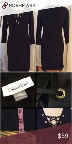 🌹Calvin Klein Black Dress🌹 The most comfortable LBD you'll ever have. Calvin Klein Dresses Midi