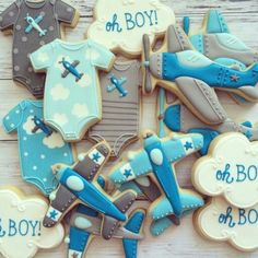Baby Airplane Cookies
