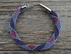 Bead crochet bracelet by KittyBangles on Etsy