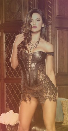 """HOT PRICES FROM ALI - Buy Plus Size Corset Women Faux Leather Lace Steampunk Corset Dress Gothic Bustier Corset Sexy Corsets Bustiers lover costume"""" from category """"Women's Clothing & Accessories"""" for only USD. Belle Lingerie, Hot Lingerie, Women Lingerie, Lingerie Dress, Bridal Lingerie, Lingerie Stores, Lingerie Company, Cheap Lingerie, Designer Lingerie"""