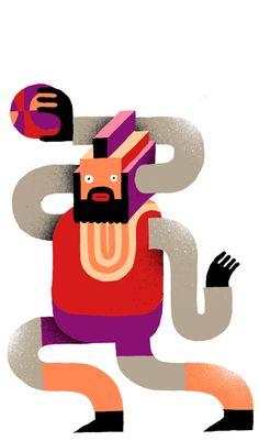 NBABaracus Illustrator Levi Jacobs