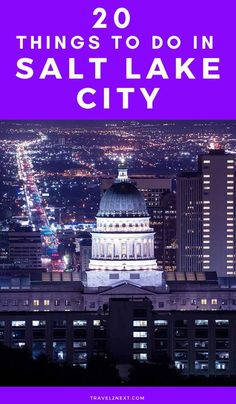 20 Things To Do In Salt Lake City. Although Salt Lake City is the most populated city in Utah, it has a small-town feel and the pioneering spirit that helped settle Utah in 1847 is felt throughout the Usa Travel Guide, Travel Usa, Travel Guides, Travel Tips, Budget Travel, Wyoming, Idaho, Cities In Utah, Road Trip Usa