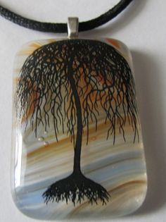 Hey, I found this really awesome Etsy listing at https://www.etsy.com/listing/173850457/fused-glass-pendant-enamel-decal-forest