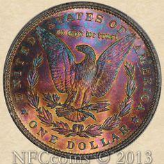1896 Morgan Dollar MS66+ PCGS Wild Reverse Color!