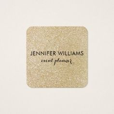 Glam Faux Gold Glitter Look Business Card - chic design idea diy elegant beautiful stylish modern exclusive trendy
