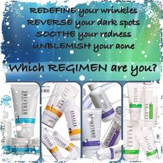 "Rodan + Fields regimens are Multi-Med therapy with the right products, used in the right order, to deliver the best results for your particular skin issues. All regimens are a two month supply with a 60 day, empty bottle guarantee, so there's nothing to lose!"" Message me and see whats best for you!  Or visit my page kaseyzimmerman.myrandf.com and use the solution tool"