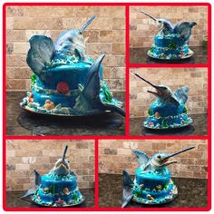 Blue Marlin cakes ideas Pinterest Blue marlin Birthday