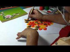 Pincelada o dibujo a mano alzada, (rosas, claveles, bambú, cartuchos, etc.) - YouTube