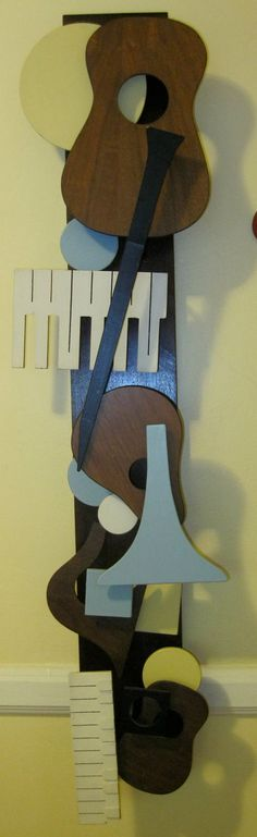 Mid Century Musical Instruments Wood Wall Art / by lipmeister, $120.00