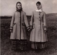Byelorussian coats from the 1930s - front view.