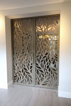 Miles and Lincoln - the UK's leading designer of laser cut screens for architecture and interiors, laser cut panels, balustrades and suspended ceilings Laser Cut Screens, Laser Cut Panels, Laser Cut Metal, Metal Panels, Laser Cutting, Screen Design, Gate Design, House Design, Wooden Door Design