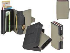 secrid MATTE - Leder RFID Twinwallet Minibörse Kartenetui - green / oliv T-M