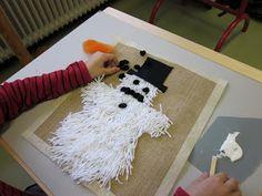 Kaarisillan käsityö: 2-luokka Doll Crafts, Crafts To Do, Hobbies And Crafts, Crafts For Kids, Arts And Crafts, Rya Rug, Textile Fabrics, Winter Art, Handicraft
