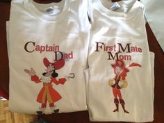 captain hook - Jake and the neverland pirates  party shirts. $29.99, via Etsy.