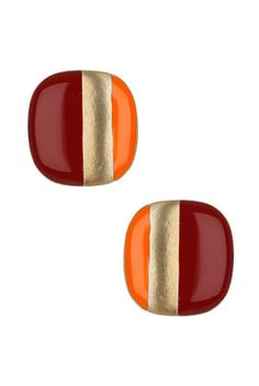Could use nail polish on old earrings to make these...  Orange & Maroon, Go Hokies!