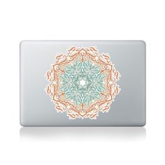 Calligraphy Floral Patterns Mandala Vinyl Sticker for Macbook (13/15) or Laptop