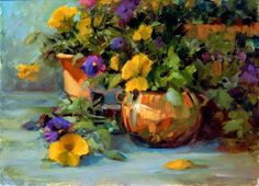 Pansy Pots - Jeanne MacKenzie - Art for Conservation