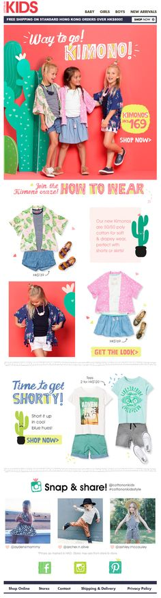 58 Ideas Fashion Portfolio Kids Products For 2019 Email Marketing Design, Email Design, Kids Email, Pag Web, Kids Web, Email Newsletter Design, Ecommerce, Fashion Banner, Web Design