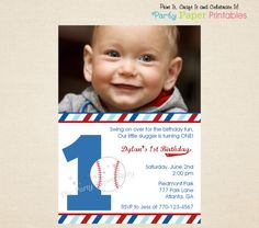 Hey, I found this really awesome Etsy listing at https://www.etsy.com/listing/129093475/baseball-birthday-invitation-baseball