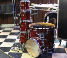 Mapex Pro M Series Drum Kit in Red Gloss Stain