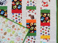 Woodland Animals Baby Quilt - Quilting Detail | Quilting Jetgirl