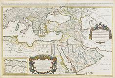 Map of the Ottoman Empire by Jaillot, 1710 (Osmanlı Haritası, 1710)