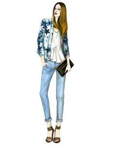 Mengjie Di fashion illustrations