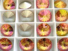 6 Brandy Foiled Swarovski Crystal Rivoli Stone 1122 12mm #Swarovski #stone