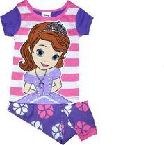 Amazon.com: Disney Sofia the First Girls Cotton 2 Piece Shirt and Pants Pajama Set: Clothing