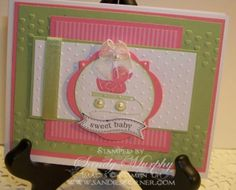 SUO Embellish Events Baby Card by Sandy Murphy - Cards and Paper Crafts at Splitcoaststampers