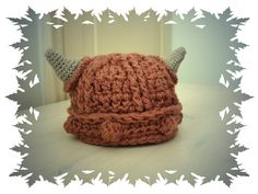 Hand crochet viking baby hat by Sweetlittlebugs on Etsy