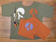 How to Make Peace Sign Patches >> http://blog.diynetwork.com/maderemade/2014/04/04/t-shirt-upcyle-with-peace-sign-patches/?soc=pinterest