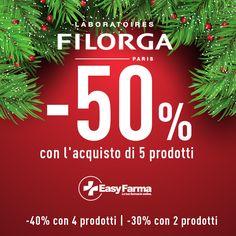 ⌛ Ultima possibilità di risparmiare il 50% su Filorga! Approfitta dell'incredibile offerta di Natale di Easyfarma.it, aggiungi al carrello 2 prodotti per ottenere subito lo sconto del 30%, 4 per ottenere il 40%, 5 o più per risparmiare fino al 50%!  ADERISCONO ALLA PROMOZIONE SOLO I PRODOTTI CONTRASSEGNATI DALLA PALLINA DI NATALE SALVO ESAURIMENTO SCORTE.  la promozione è valida anche acquistando prodotti di marchi diversi  #promozioni  #promozion #natale  #xmas #sconti #migliorprezzo…
