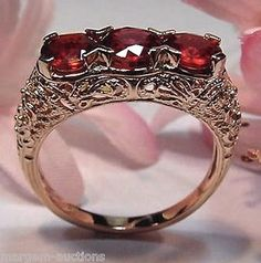 GENERATIONS 1912 GENUINE 2 1/2 cttw FANCY COLORED SAPPHIRE RING 14kt ROSE GOLD