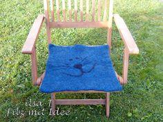 Sitzkissen, Stuhlauflage gefilzt von ilsa-T - Filz mit Idee auf DaWanda.com