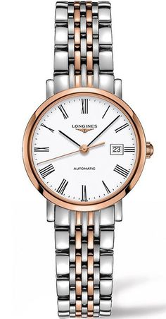 @longineswatches Elegant Ladies #bezel-fixed #bracelet-strap-rose-gold-pvd #brand-longines #case-material-rose-gold #case-width-29mm #classic #date-yes #delivery-timescale-call-us #dial-colour-white #gender-ladies #movement-automatic #new-product-yes #official-stockist-for-longines-watches #packaging-longines-watch-packaging #style-dress #subcat-elegant #supplier-model-no-l4-310-5-11-7 #warranty-longines-official-2-year-guarantee #water-resistant-30m