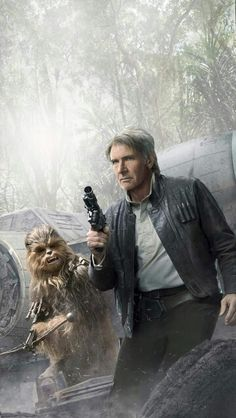 Han and Chewbacca fan art from 'The Force Awakens.'