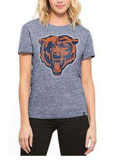 '47 Chicago Bears Womens MVP Hero Navy Blue T-Shirt Cleveland Indians Hat, Navy Blue T Shirt, Nfl Chicago Bears, Navy Women, Graphic Sweatshirt, T Shirts For Women, Hero, Sweatshirts, Sweaters
