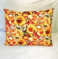 Autumn Bird Pillows - Fall Throw Pillows - Home Decor - Fall Decor - Gifts for Her - Cardinals - Chipmunks - Pumpkins - Thanksgiving Decor