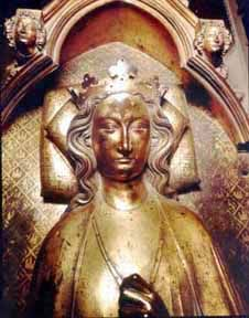 Eleanor of Castile effigy Westminster Abbey - can buy photo