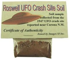 """Roswell Crash Site Soil: """"Everyone, get your tin-foil! It's Roswell crash site soil. One of kind. Quite the find! A bag full of dirt? What could it hurt? Ufo, Weird Stuff On Amazon, Tax Refund, White Elephant Gifts, Holiday Gift Guide, Holiday Gifts, Canning, Hipster Illustration, Aliens"""