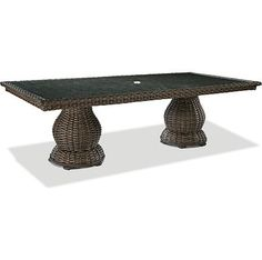 46 X 96 Dble Pedestal Dining Tbl W/Glass