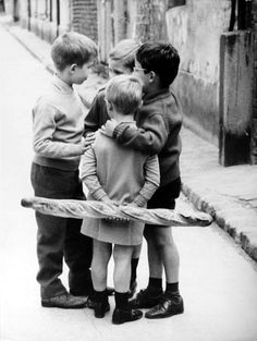 Children, Paris 1950, by Raymond Prunin