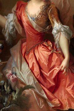 INCREDIBLE DRESSES IN ART (104/∞)Portrait of a Woman, Possibly Madame Claude Lambert de Thorigny (Marie Marguerite Bontemps, 1668–1701) by Nicolas de Largillière, 1696