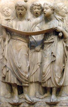 Luca della Robbia (1400-1482) ~ Cantore (detail) ~ 1430s ~ Museo dell'Opera del Duomo, Florence