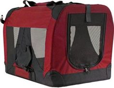 """$23.99-$45.99 Red Folding Soft Sided Carrier Crate for Pets up to 15 lbs. - Red 20"""" x 14"""" x 14"""" Small dog carrier and soft pet crate. Lowest prices on this folding dog carrier for your dog, cat or other pet. This pet carrier folds compact for traveling. FPC-S http://www.amazon.com/dp/B004JO1F7U/?tag=pin2pet-20"""